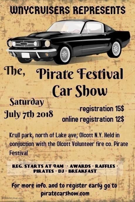 Rochester Corvette Club Pirate Festival Car Show - Car show awards