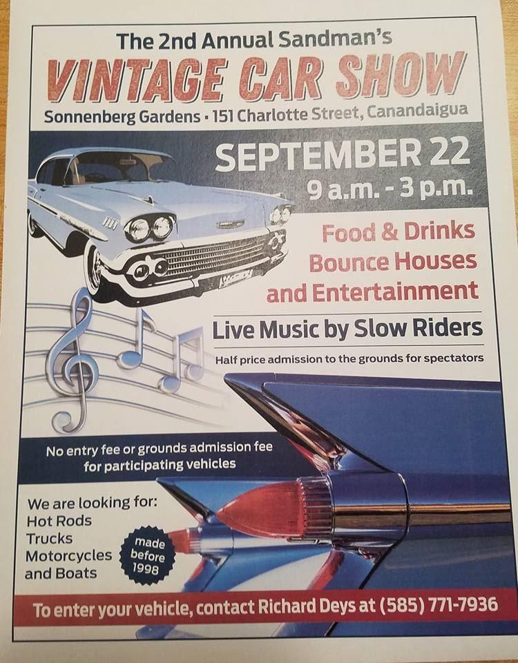 Rochester Corvette Club Sandmans Vintage Car Show - Rochester car show